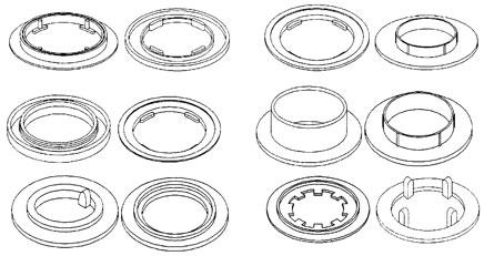 Pool filter discs.